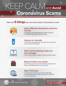 avoid covid scammers